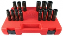 Trusă 14 chei tubulare de impact 1/2 hexagon LONG, SS4114D, 10-11-12-13-14-15-16 -17-18-19-21-22-26-27mm