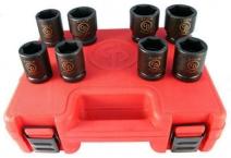 Trusă 8 chei tubulare de impact 3/4 hexagon ,SS618, 26-27-29-30-32-35-36 -38 mm