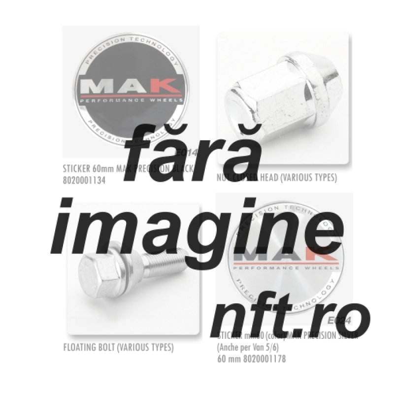 NUT M12X1,25 CH21 CLOSED FLAT   DNIS02