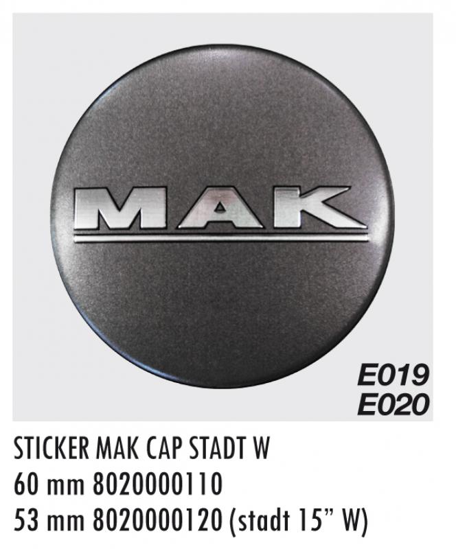 """EMBLEM E020 MM53 """"K"""" CAP STADT 15W"""