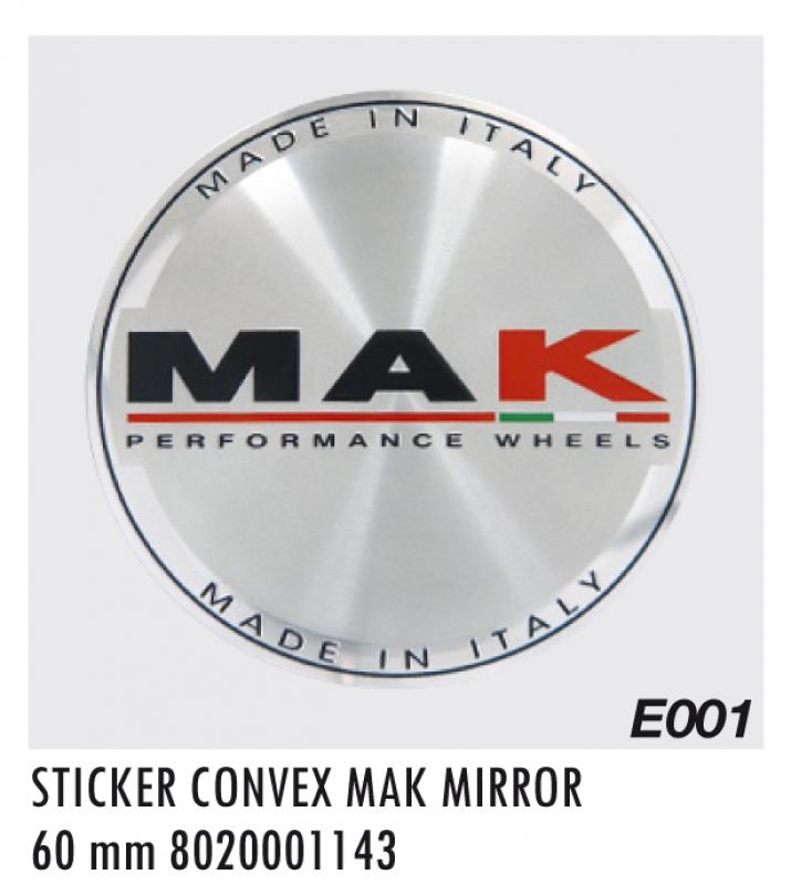 """EMBLEM E001 CONVEX MM60 """"K"""" MIRROR"""