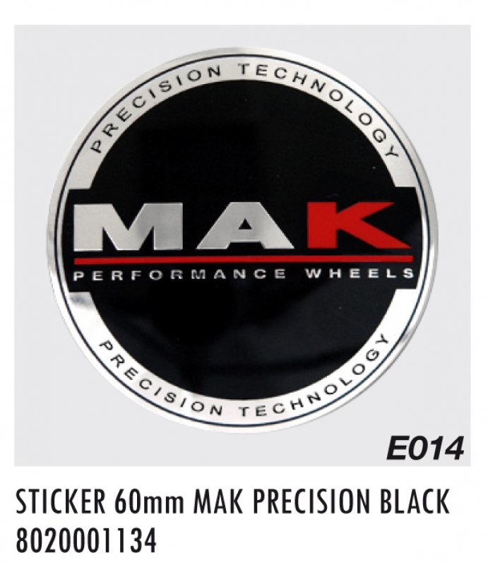 "EMBLEM E014 MM60 ""K"" PRECISION BLACK"